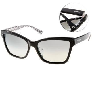 【COACH太陽眼鏡】高貴優雅簡約貓眼款(黑#COS8107F 521411)