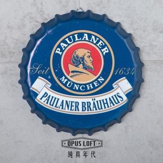 【OPUS LOFT純真年代】仿舊啤酒瓶蓋壁飾 立體牆飾鐵皮畫 居酒屋美式餐廳夜店牆面裝飾掛畫(BC04 寶萊納)