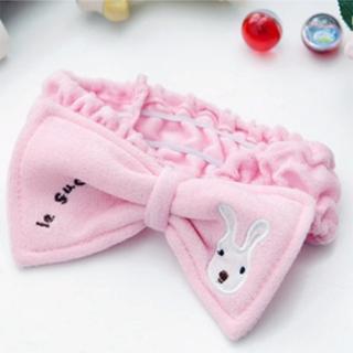 可愛兔兔蝴蝶結髮帶(百變造型髮圈)