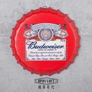 【OPUS LOFT純真年代】仿舊啤酒瓶蓋壁飾 立體牆飾鐵皮畫 居酒屋美式餐廳酒吧牆面擺飾掛畫(BC03 百威)