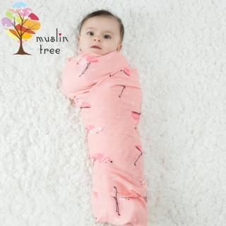 【荷蘭Muslin tree】嬰兒多功能竹纖維雙層紗布包巾(2條入)