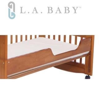 【美國 L.A. Baby】成長床床側板(咖啡色.白色)
