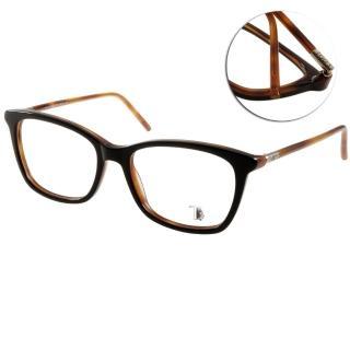【TODS光學眼鏡】經典基本百搭款(黑-棕#TOD5110 005)