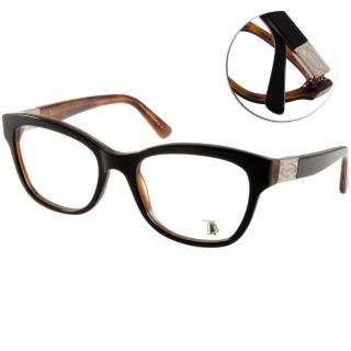 【TODS光學眼鏡】經典LOGO粗框款(琥珀棕#TOD5120 005)
