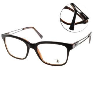 【TODS光學眼鏡】典雅基本百搭款(黑-琥珀棕#TOD5050 005)