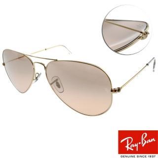 【RayBan太陽眼鏡】熱銷經典水銀鏡面款(玫瑰金#RB3025 0013E-58mm)