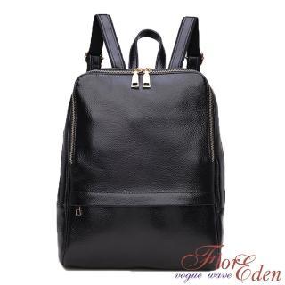 【DF Flor Eden】韓版首爾時尚質感皮革後背包(共2色)