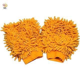【月陽】韓式雙面長毛超細纖維靜電除塵魔術手套2隻組(533X2)