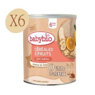 【法國BABYBIO】有機寶寶米精(水果220gx6)