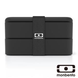 【MONBENTO】雙層餐盒-黑(MB-120002102)