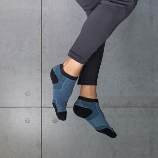 【aPure】除臭襪-多功科技運動襪(灰藍)
