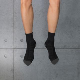 【aPure】除臭襪-弧型短筒運動襪(黑)