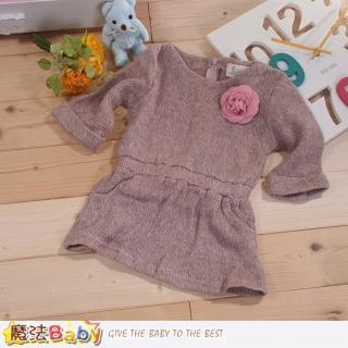 【魔法Baby】女童洋裝針織毛線連身裙(k42916)