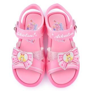 【童鞋城堡】偶像學園 中大童 可愛蝴蝶結涼鞋(ID4401-粉)