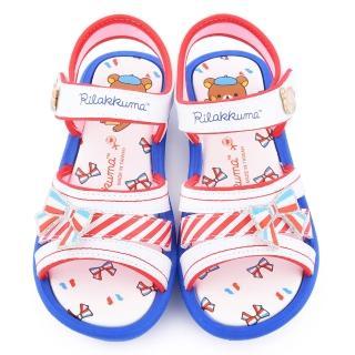 【童鞋城堡】拉拉熊 中童 法國風涼鞋(KM3946-白)