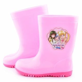 【童鞋城堡】真珠美人魚 中大童 甜美雙色底雨鞋(PI7128-粉)