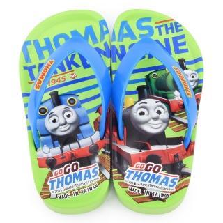 【童鞋城堡】湯瑪士 中童 不對稱俏皮夾腳拖(TH2024-綠)
