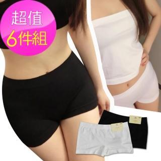 無縫安全褲-6件組(L206內搭褲-平口)