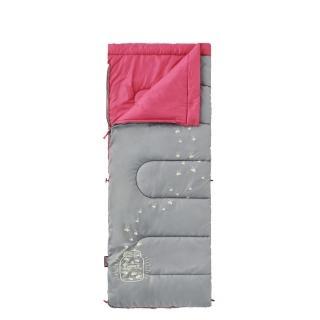 【美國 Coleman】夜光型兒童睡袋/7度C.信封型睡袋(CM-22263 桃紅)
