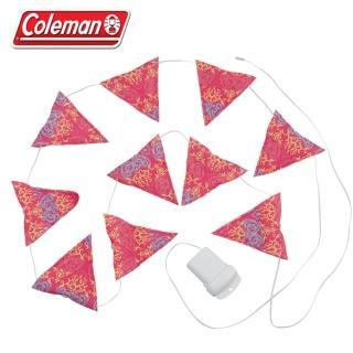 【美國Coleman】新款 LED串燈/彩色串燈.三角旗幟(紅葉圖騰 CM-22289)