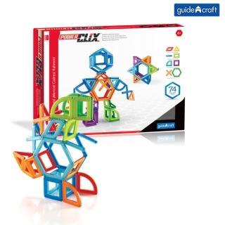 【美國 GuideCraft】磁力空心積木(74件)