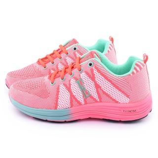 【ELLE】女款 輕量彈力運動鞋(153032-桃紅)