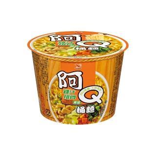 【阿Q桶麵】雞汁排骨風味桶12入/箱(入口香滑而不油膩)