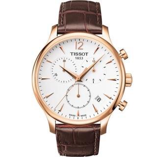 【TISSOT 天梭】T-Tradition 經典三眼計時腕錶(42mm-T0636173603700)