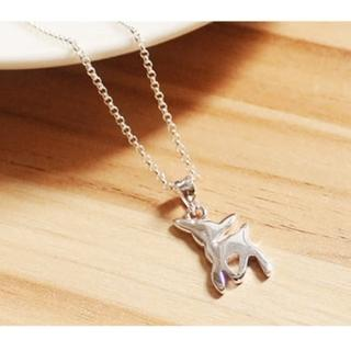【微笑安安】亮面小鹿925純銀細緻項鍊