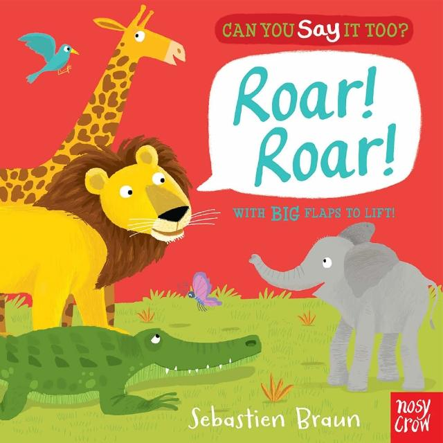 【Song Baby】Can You Say It Too? Roar! Roar!(美國版精裝翻頁書)