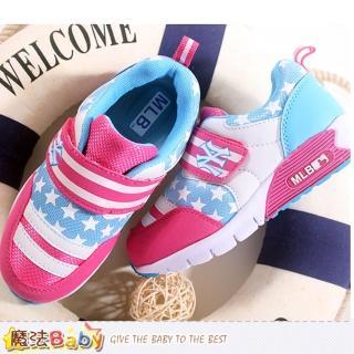 【魔法Baby】中大童運動鞋 大聯盟洋基隊正品(sh8008)