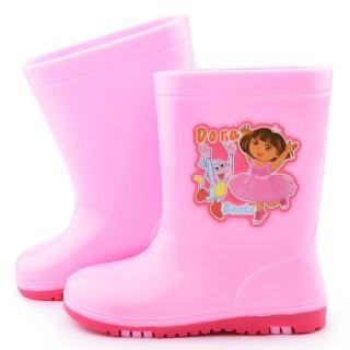 【童鞋城堡】朵拉 中大童 甜美雙色底雨鞋(DR87019-粉)