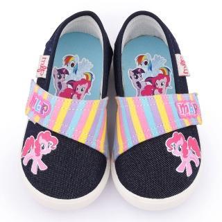 【童鞋城堡】彩虹小馬 中童 清新亮麗休閒鞋(MP7903-藍)