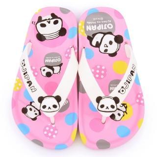 【童鞋城堡】歐吉胖Ojipan 中童 不對稱夾腳拖(OJ0999-粉)