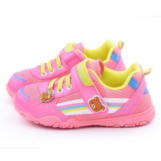 【童鞋城堡】拉拉熊 中大童 亮麗透氣運動鞋(KM6643-粉)