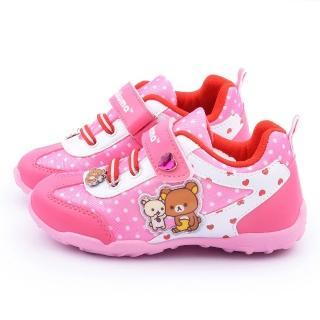 【童鞋城堡】拉拉熊 中大童 甜美透氣運動鞋(KM6677-桃)