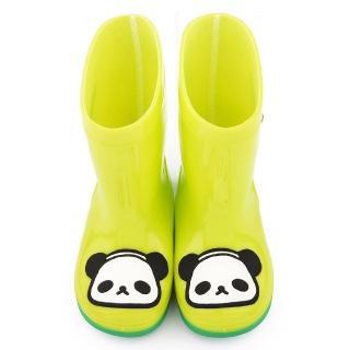 【童鞋城堡】歐吉胖 中童 可愛雙色底雨鞋(OJ8330-綠)