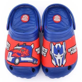 【童鞋城堡】變形金剛 中童 輕量不對稱花園鞋(TF10099-藍)