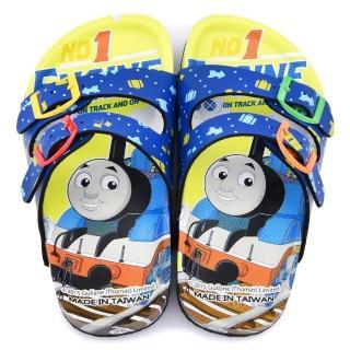 【童鞋城堡】湯瑪士 中童 亮麗軟木風格拖鞋(TH1556-藍)
