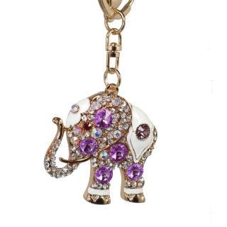 【菲依麗精品】時尚精品 施華落款 紫色 象徵愛情 鑰匙圈(情人節限定)