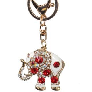 【菲依麗精品】時尚精品 施華落款 紅白色 象徵愛情 鑰匙圈(情人節限定)
