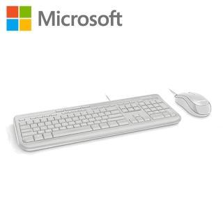 【微軟】Microsoft 標準滑鼠鍵盤組600/ 白色(APB-00020)