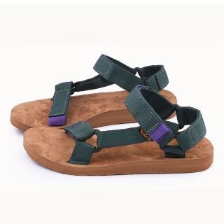 【TEVA】男款 經典復刻織帶涼鞋(TV1008638JRGR-綠)