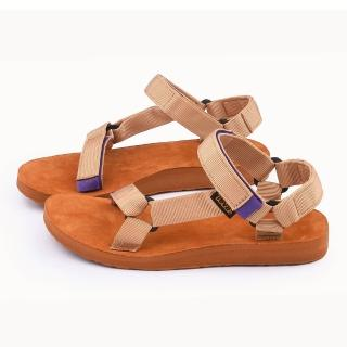 【TEVA】女款 經典織帶涼鞋(TV1008639TAN-黃褐)