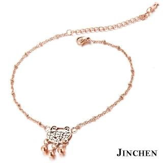 【JINCHEN】316L西德鋼富貴腳鍊單件價TFC-003玫金(時尚腳鍊/生日禮物)