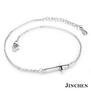 【JINCHEN】316L鈦鋼腳鍊單件價TFC-010銀色(十字架設計/時尚腳鍊/生日禮物)