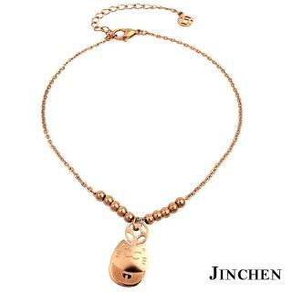 【JINCHEN】316L鈦鋼腳鍊單件價TFC-004玫金(貓咪設計/時尚腳鍊/生日禮物)