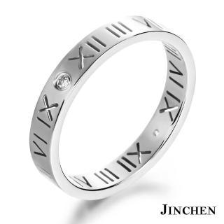 【JINCHEN】316L鈦鋼戒指單個價TBC-462銀色(羅馬密碼戒指/韓版百搭/甜美女孩)