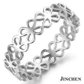 【JINCHEN】316L鈦鋼戒指單個價TBC-439銀色(幸運草戒指/韓版百搭/甜美女孩)