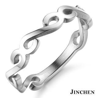 【JINCHEN】316L鈦鋼戒指單個價TBC-438銀色(復古花紋戒指/韓版百搭/甜美女孩)